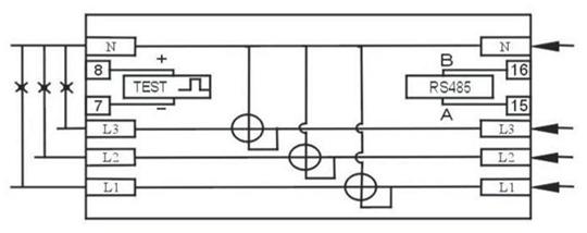 three phase din rail energy meter